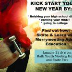 January 2020, Skate & Learn Info Night